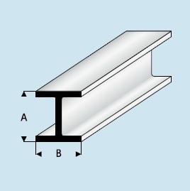 Kunststoff Asa H Profil 1 5mm X 1 5mm X 1000mm H Profil