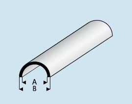 Kunststoff Asa Halbrundrohr 5 0mm X 3 5mm X 1000mm Halbrohr