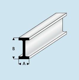 Kunststoff Asa I Profil 3 0mm X 6 0mm X 1000mm I Profil
