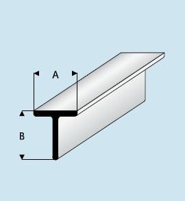 Kunststoff Asa T Profil 7 0mm X 7 0mm X 1000mm T Profil