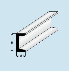 Hervorragend Kunststoff (ASA) U-Profil 3,0mm x 1,50mm x 1000mm | U-Profil  NM64