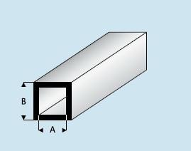 Kunststoff Asa Vierkantrohr Quadr 4 0mm X 2 0mm X 1000mm Aussen