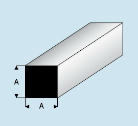 Kunststoff Asa Vierkantstab 2 5mm X 2 5mm X 1000mm Vierkantstab