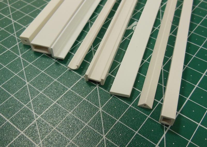 Kunststoff Asa Viertelrundstab 4 0mm X 1000mm Viertelrundstab