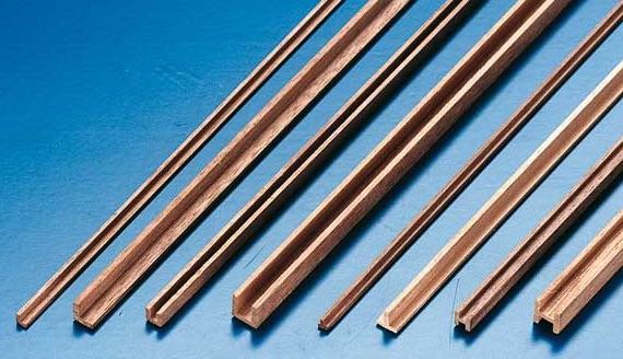 Fabulous Nussbaum U-Profil 6mm x 6mm x 1000mm | Holz Micro U-Profil XT85