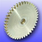 Zahnrad Modul 1,0 aus Messing 20 Zähne Stirnzahnrad
