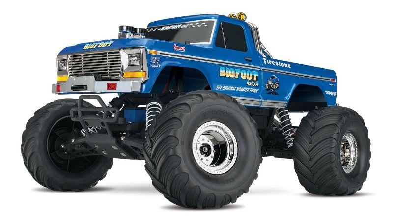 TRAXXAS BIGFOOT No.1  Monstertruck 2WD RTR inkl. 12V-Lader und Akku-Flamme-image