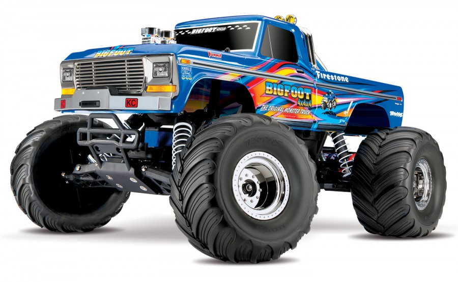 TRAXXAS BIGFOOT No.1  Monstertruck 2WD RTR inkl. 12V-Lader und Akku-Blau-image